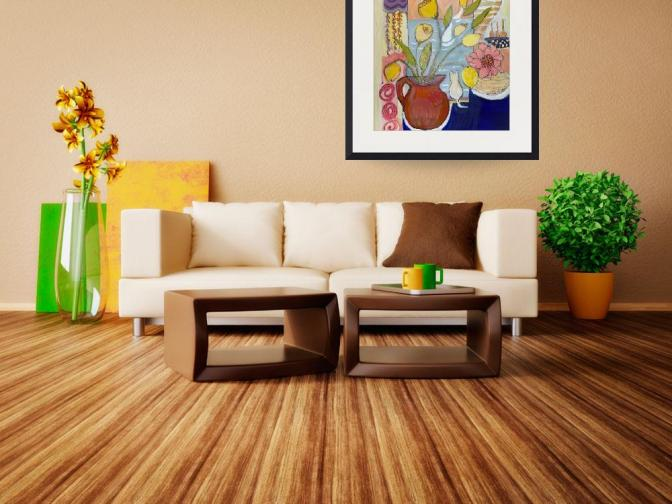 french-tulips_art-living-room-setting