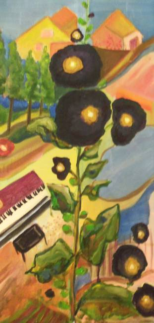 Black-Hollyhocks--Piano_art