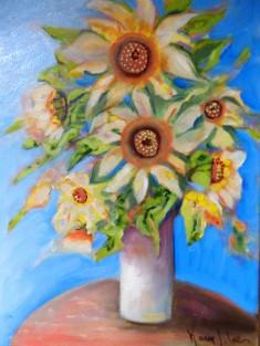 Vase of Sun Flowers