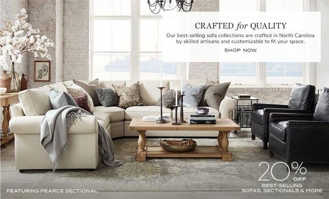 Pottery Barn sofa set