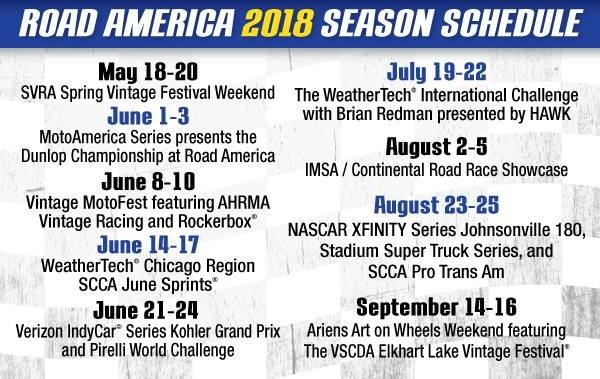 Road AM 2018 races