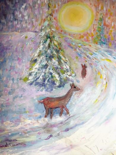 Reindeer Follow the Light